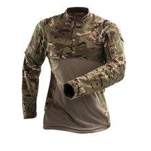 MegeชายทหารยุทธวิธีTเสื้อCamouflage Armyเสื้อแขนยาวTeeทหารCombatเสื้อผ้าAirsoft Uniform Multicamเสื้อ