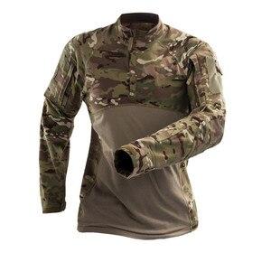 Image 1 - Mege hommes militaire tactique t shirt gymnastique Camouflage armée à manches longues t shirt soldats vêtements de Combat Airsoft uniforme Multicam chemise