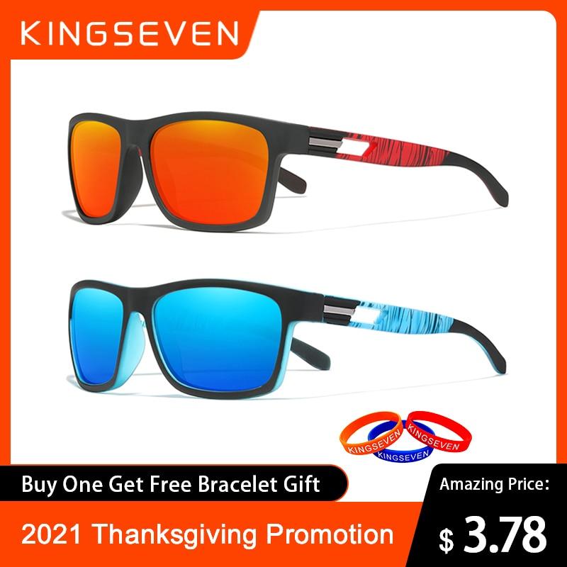 Специальное предложение, брендовые солнцезащитные очки KINGSEVEN для мужчин, поляризационные линзы, солнцезащитные очки для женщин и мужчин, ...