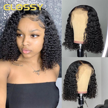 Jerry Curly Bob Wigs 13x4 Lace Front Human Hair Wigs 180 Density Brazilian Kinky Curly Bob Lace Closure Wig For Black Women