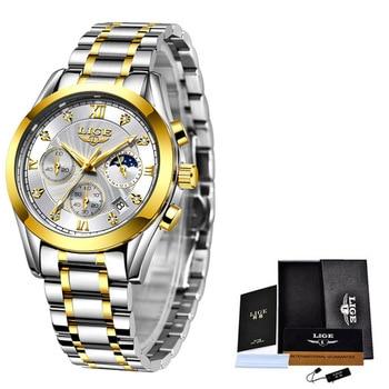LIGE 2021 New Fashion Watch Women Watches Ladies Creative Steel Women Bracelet Watches Female Waterproof Clocks Relogio Feminino 10