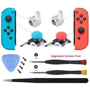 Image 3 - Joy Con 3D Analog Stick Sensor Module for Nintendo Switch Replacement Joycon Metal Lock Buckle Repair Parts for Nintendoswitch