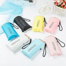Ardeco плоский маленький пятискладной зонтик женский дождь или блеск двойного назначения винил УФ-защита kou dai san логотип Customizabl