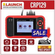 Launch escáner X431 Creader CRP129, lector de códigos para automóvil, OBD2, herramienta de diagnóstico automotriz, máquina Creader VII 8 ENG AT ABS SRS