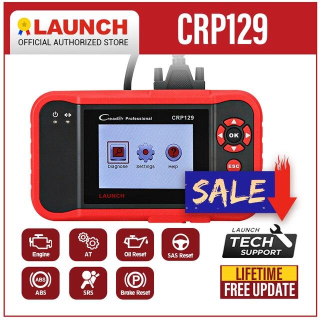 סורק השקה X431 Creader CRP129 אוטומטי קוד קורא OBD2 רכב אבחון כלי מכונת Creader השמיני 8 ENG באופן ABS SRS כלים
