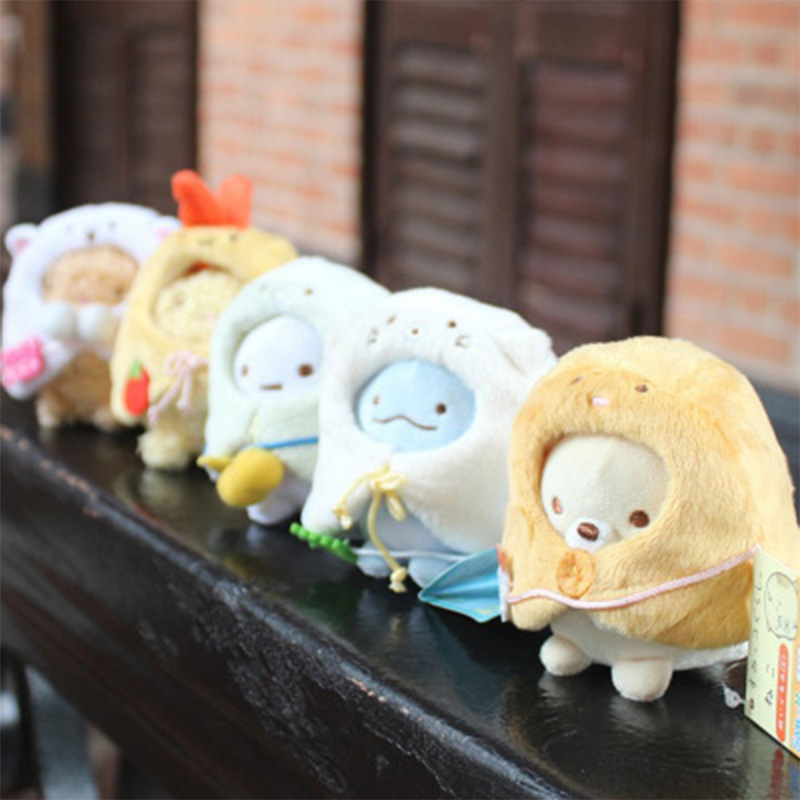 Sumikko Gurashi With Removable Cape Plush Toy Peluche Stuffed Doll Toys Kids Gift Juguetes Keychain Ornament Key Pendant