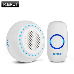 Image 2 - KERUI M523 Wireless Doorbell Kit Waterproof Touch Button 32 Songs Colorful LED light Home Security Smart Chimes Doorbell Alarm