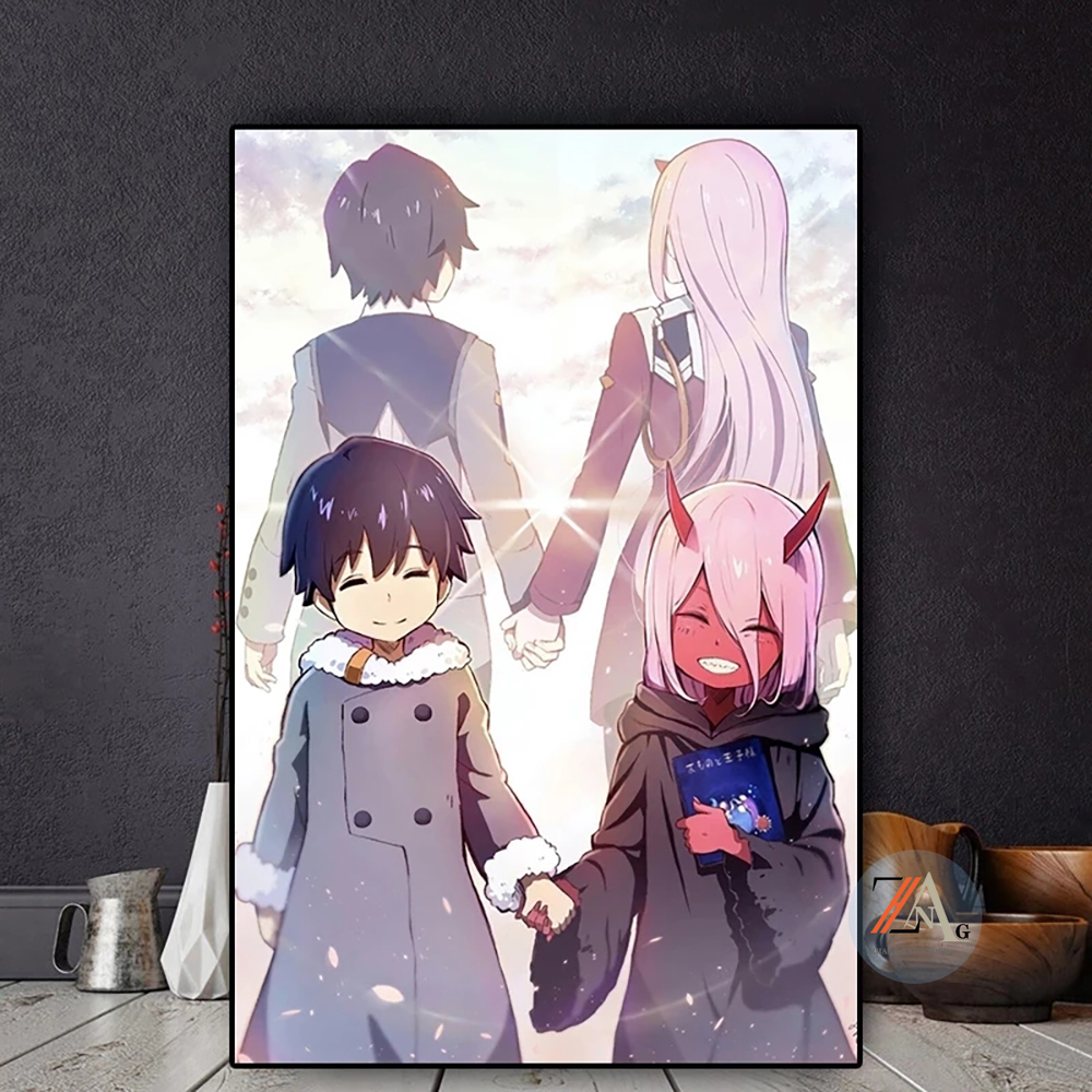 Dear manga oil painting posters and prints in anime art posters mural pictures for living room decoration paintings