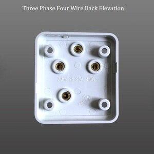 Image 5 - 10A/16A/25A 250V/440V Drie Fase Vier Draad En Enkele Fase Drie Pole Diy industriële Stekker Socket Surface Mount Outlet
