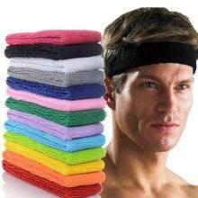 Esporte de algodão sweatband bandana para homens mulheres unisex yoga hairband ginásio estiramento cabeça bandas forte elástico fitness basquete banda