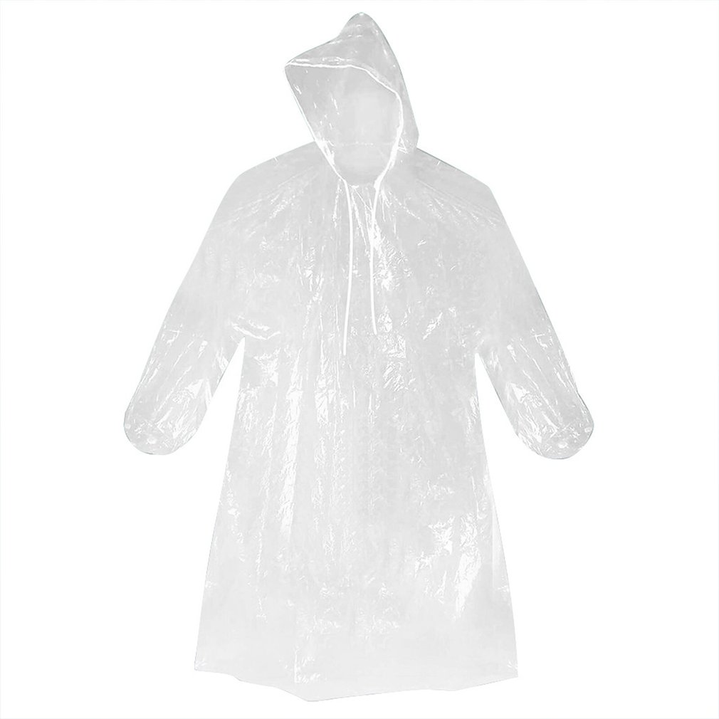 1 Pcs Disposable Raincoat Adult Emergency Waterproof Hood Poncho Travel Camping Must Raincoat Unisex