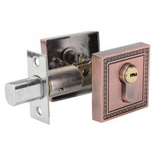 Zinc Alloy Door Sliding DoorLlock  Single Cylinder Deadbolt Lock Square Door Lock for Wood Door Smart Door Lock aiboli golden zinc alloy sliding door lock euporean pattern hidde handle interior door lock lock anti theft room wood door lock