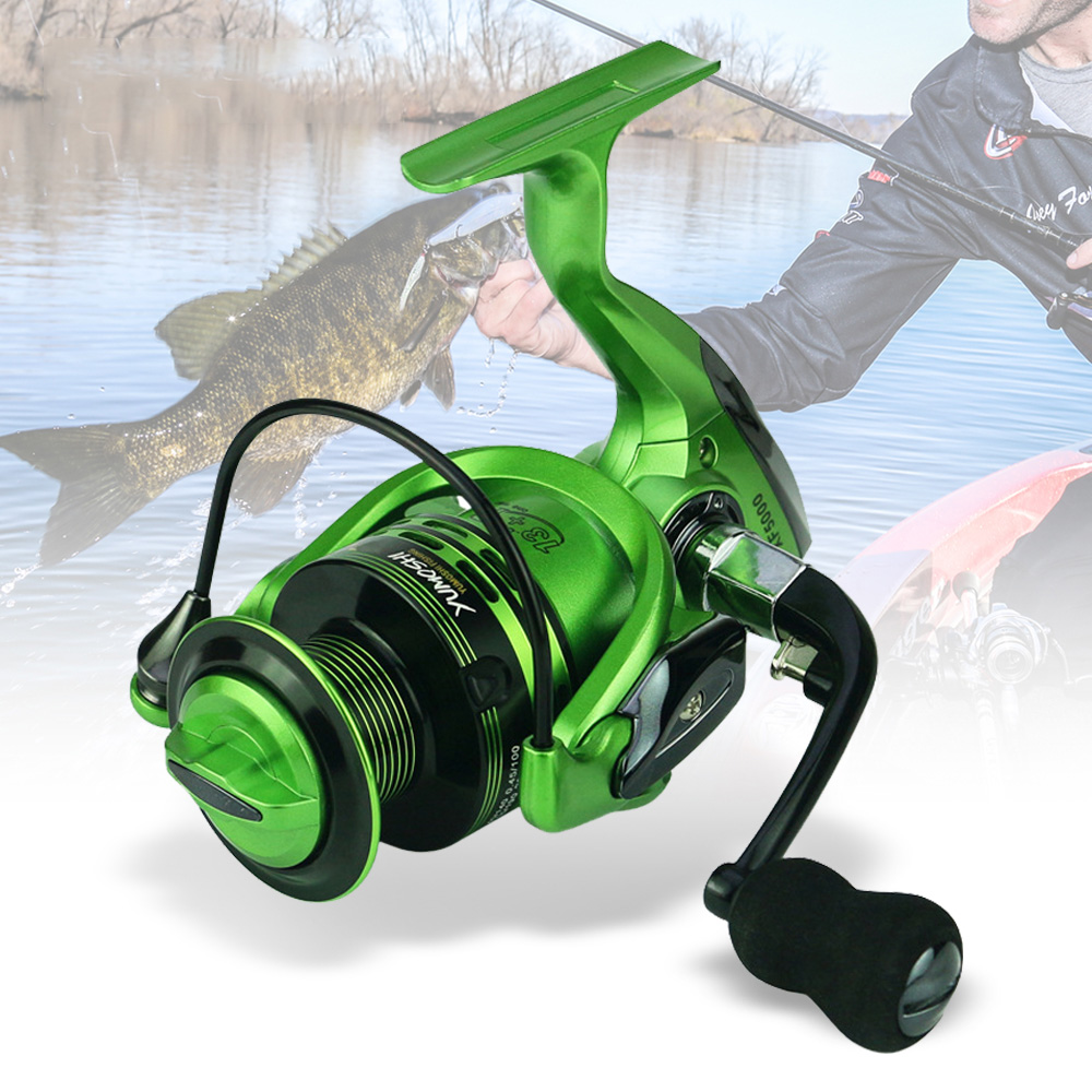 SFIT 낚시 릴 1000-7000 시리즈 낚시 13 + 1 BB 5.5: 1 금속 물고기 피더 스피닝 릴 Baitcasting 낚시 바퀴