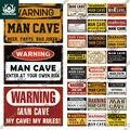 Putuo Декор доска человек пещера металлический знак Винтаж жестяная вывеска забавные Предупреждение мои правила осторожностью для Бар Паб Club...
