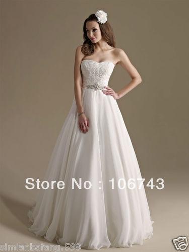 Free Shipping 2018 Rhinestone Sweetheart Belt New Style Chiffon Embroider Lace Brides Bridal Gown Custom Bridesmaid Dresses