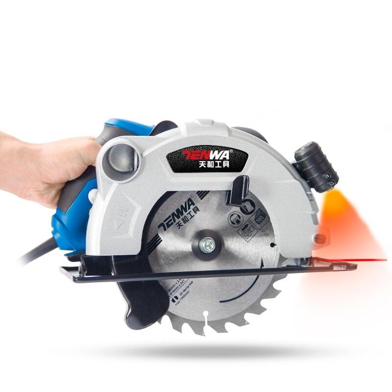220 В 1500 Вт электрический циркулярная пила 2 шт пилы 180мм клинок для бытовых небольшой деревообрабатывающий автомат для резки круглой пилы