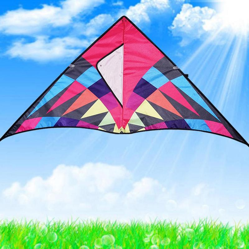 1200 * 55 Cm Large Rainbow Kite Seductive Nylon Ripstop Flying Toys Kite Hard-winged Kite Windsock Parafoil Kite Outdoor Toy