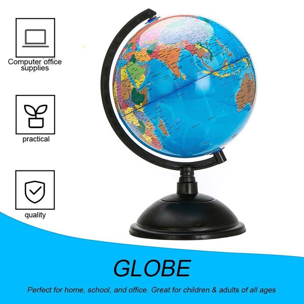 Mapa del mundo del océano de 20cm con soporte giratorio juguete educativo de geografía mejora el conocimiento de la tierra y la geografía
