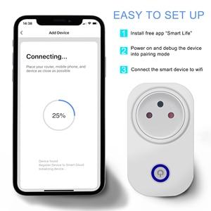 Image 5 - Tuya Smart Wifi Plug Socket Israël 16A Met Power Monitor App/Voice/Timing Draadloze Afstandsbediening Werkt Met alexa Google Thuis