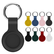1pc Case For Apple Airtags Liquid Silicone Protective Sleeve For Apple Locator Tracker Anti-lost Device Keychain With Hook