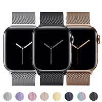 Strap Für apple watch band 44mm 40mm 38mm 42mm 44mm metall Smartwatch armband magnetische Schleife Armband iWatch 3 4 5 6 se band