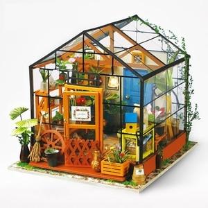 DIY миниатюрный дом с мебелью, светодиодная модель, строительные блоки, игрушки для детей, китайская фолк-архитектурная система DG102