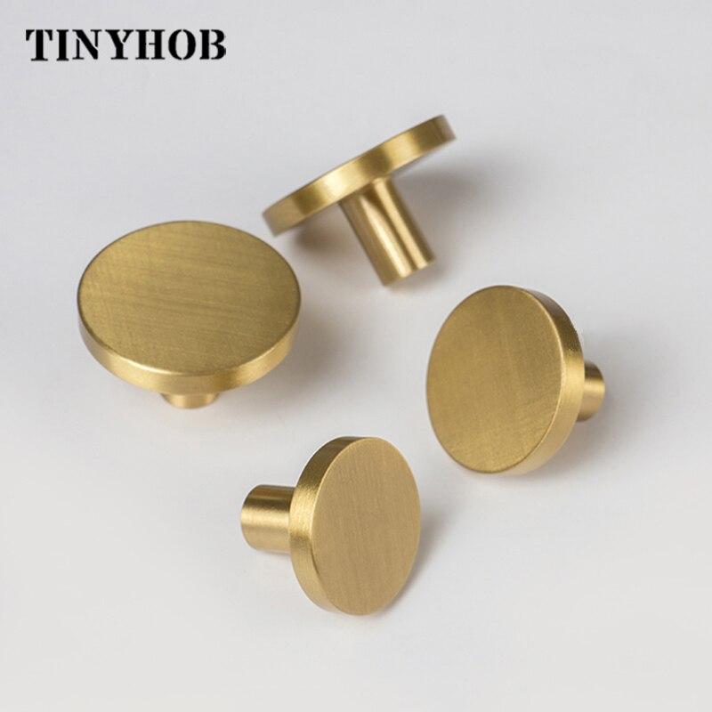 Round Brass Dresser Knobs Drawer Pulls Handles Cabinet Door Knob Handle Antique  Rustic Kitchen Hardware Pull
