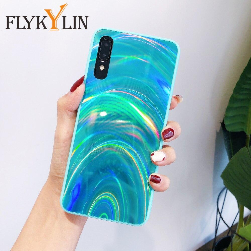 Rainbow Mirror Case For Samsung Galaxy A21S A51 A50 A71 A70 M21 A10S A20S A30S A11 A31 A41 A01 M30S Soft Silicone Phone Cover