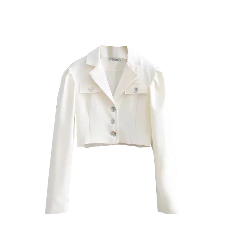 Womens White Short Lady Long Sleeve Blazer Dress Women Casual Blazer Short Women's Blazers Short Blazers And Jackets New II50XZ