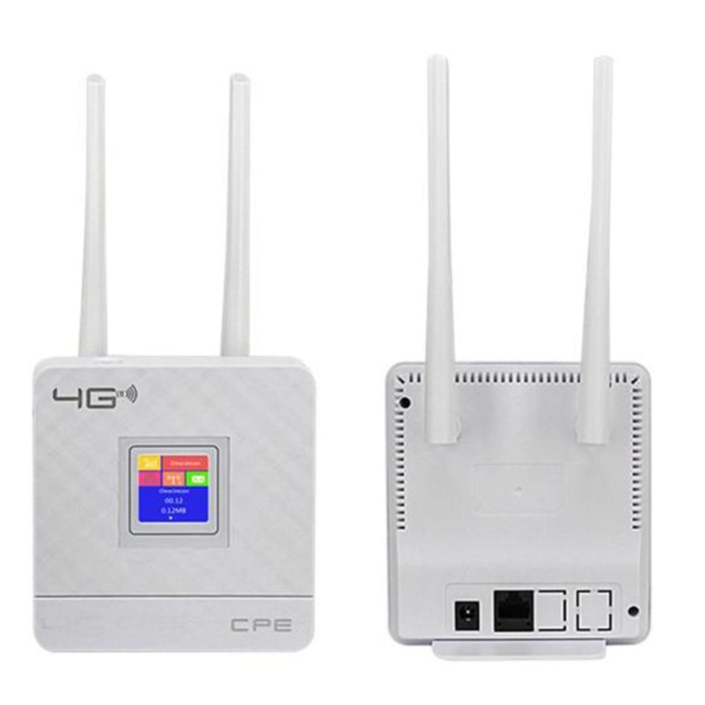 4G LTE CPE Wifi Wireless Router Broadband Unlock 4G 3G  150 Mbps Mobile Hotspot WAN/LAN Port  Stylish Appearance