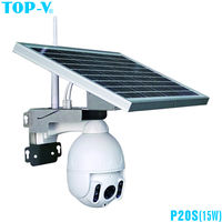 1080P waterproof wifi solar power outdoor PTZ auto tracking security speed dome IP camera