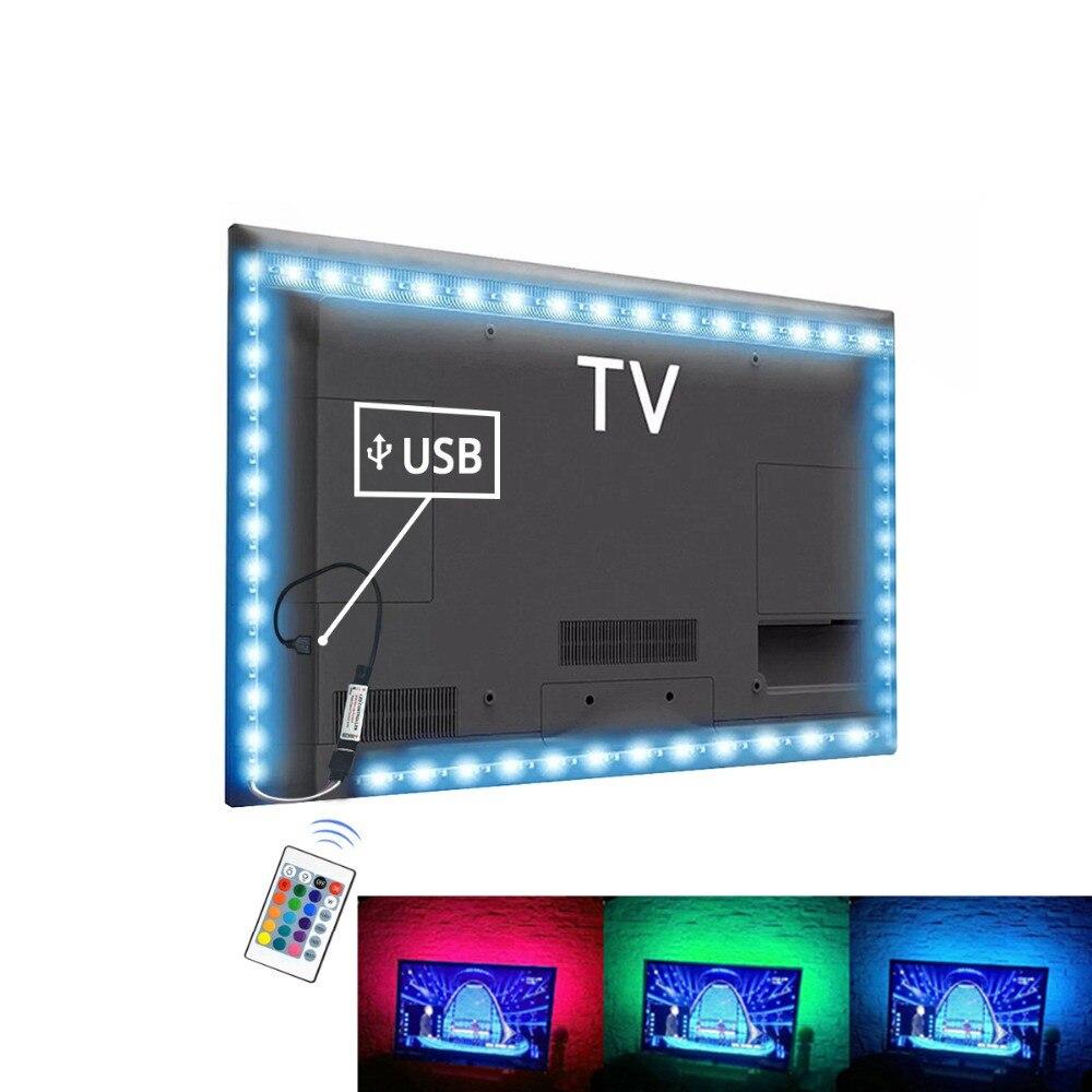 USB LED Strip Rgb Tape TV Backlight PC Ambilight Neon Lights Smd 2835 5V Tira Leds Light Strips For Decoration Lamp Diode Ribbon