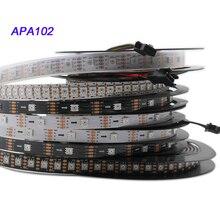 цены 1m/3m/5m APA102 pixel Smart led strip;30/60/144 leds/pixels/m;DATA and CLOCK seperately;DC5V;IP30/IP65/IP67 Sk9822