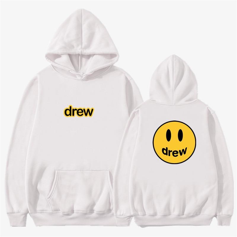 Fashion Hoodie Men Justin Bieber The Drew House Smile Face Print Women Men Hoodies Sweatshirts Hip Hop Pullover Winter Fleece