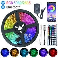 Tira de luces LED con Bluetooth para Navidad, cinta de diodos flexibles, resistentes al agua, RGB5050, 5M, 10M, 15M, 20M, WiFi
