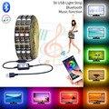 Bluetooth Smart USB 5050 LED Lights DC5V LED Strip RGB Flexible 1M 2M 3M 5M For TV Background Night light Luces LED Neon Lamp