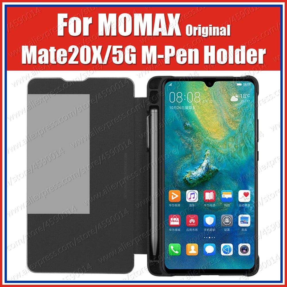Momax marca mate20 x 5g huawei m caneta stylus slot caso com suporte para lápis companheiro 20x suporte flip cover