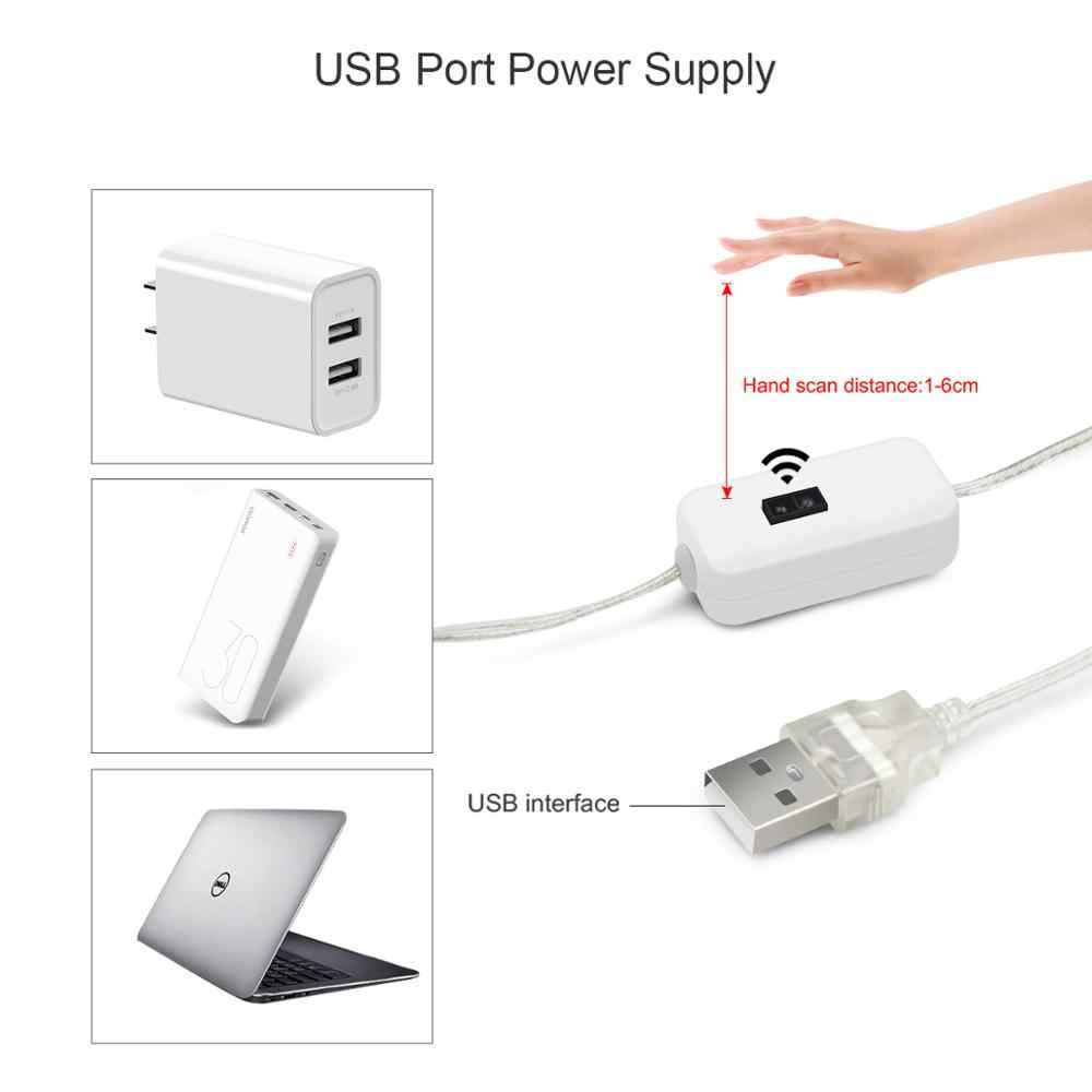 Smart Hand Sweep Sensor kitchen lamp 1M 2M 3M 4M 5M USB powered LED Light For closet wardrobe cupboard backlight home Lighting
