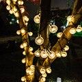 New 20/50 LEDS Crystal Ball 5M/7M/12M Solar Lamp Power LED String Fairy Lights Solar Garlands Garden Christmas Decor For Outdoor