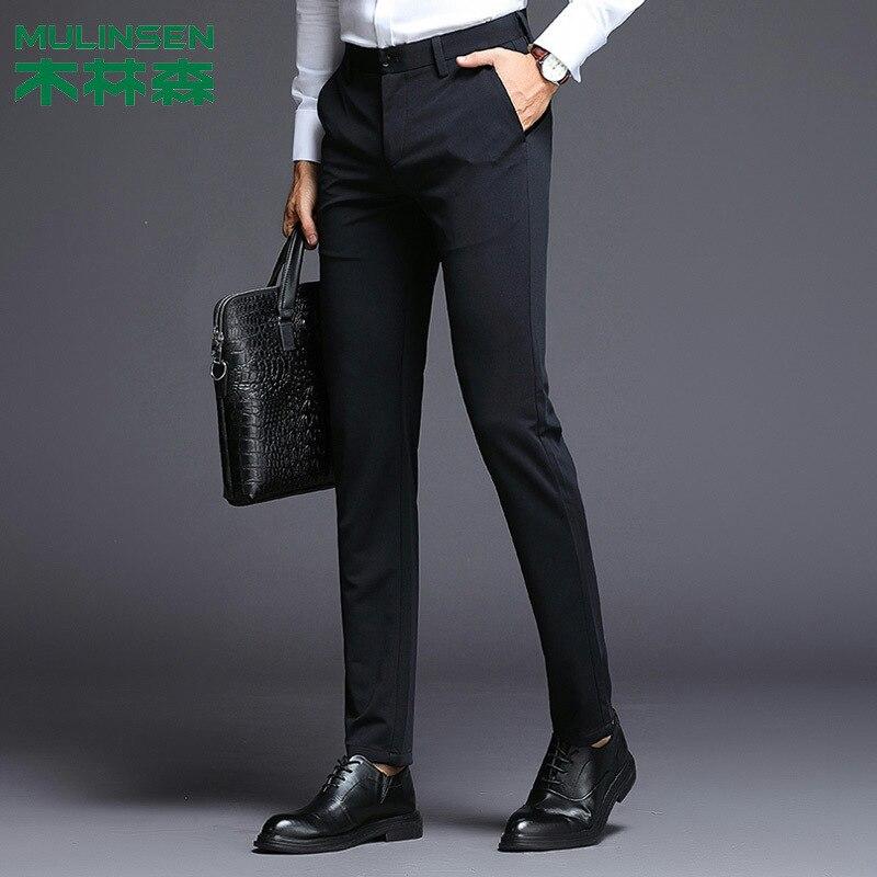 MULINSEN Suit Pants Men's Straight-Cut Business Casual Korean-style Trend Slim Fit LABOUR Suit Pants Trousers Fashion