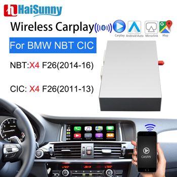 Wireless Carplay For BMW X4 F26 X5 E70 Support Upgrade Multimedia Screen Android Auto Interface GPS Navigation NBT CIC System image