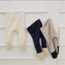 Zimowe spodnie dla niemowląt noworodek Parnyhose grube polarowe ciepłe spodnie dla niemowląt Legging dziewczynek chłopców spodnie legginsy 0-2Y tanie tanio CHILDLAND POEM COTTON W stylu Preppy Elastyczny pas Pasuje prawda na wymiar weź swój normalny rozmiar Pełnej długości