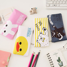 Stationery Canvas Pencil Case School Pencil Bag Pencilcase Office Supplies Pen Bag Students Pencils Writing недорого