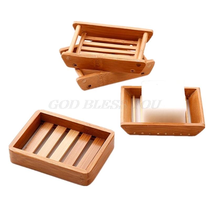 Portable Soap Dishes Creative Simple Bamboo Manual Drain Soap Box Bathroom Bathroom Japanese Style Soap Soap Box