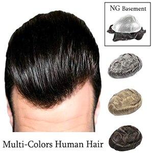Image 1 - Stock Parrucche dei capelli Umani Per Gli Uomini toupee degli uomini Dei Capelli Top Pezzo Super Sottile Parrucchino Pelle Peruviana Dei Capelli di Remy Confortevole mens Parrucca