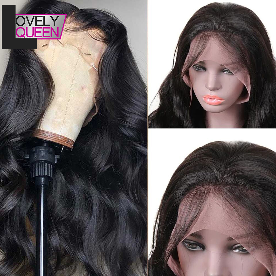 Lace Frontal Human Hair Wigs  Brazilian Body Wave Lace Wig For Black Women Pre Plucked With Baby Hair Remy Hair