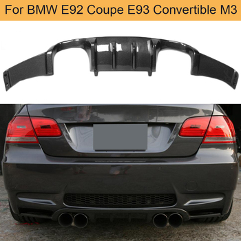 Carbon Fiber Car Rear Bumper Diffuser Lip Spoiler For BMW E92 Coupe E93 Convertible M3 2008-2013 Rear Diffuser Lip Spoiler image