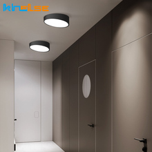 Modern Wireless Ceiling Surface Mounted Lighting Fixtures Black White Round Square Corridor Hallway Bedroom Light