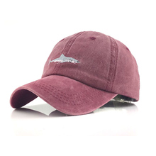 Spring and Autumn Animal Washed Cotton Baseball Cap with Whale pattern Peaked Em