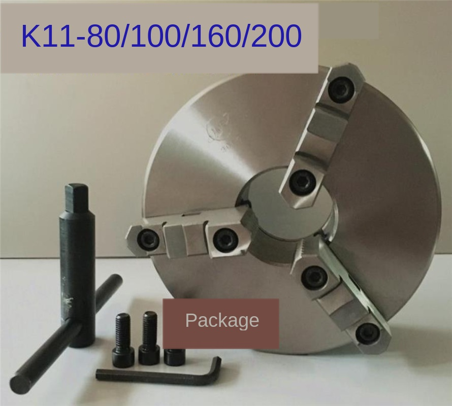 K11-80/100/125/160 3 Jaw Lathe Chuck Self Centering Hardened Reversible Tool For Drilling Milling  Woodworking Lathe Chucks